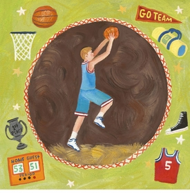 basketball star - boy wall art