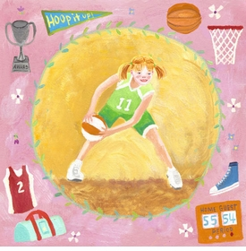 basketball star - girl wall art