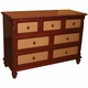 beach house malibu seven drawer dresser