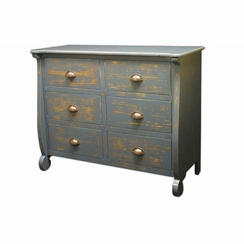 beach house six drawer dresser