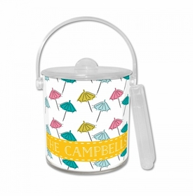 Beach Umbrella White Ice Bucket