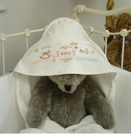 bebe hooded towel by sweet william