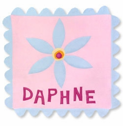 belle fleur personalized fleece blanket