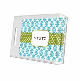 beti teal lucite tray - small