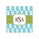 beti teal square paper coaster<br>set of 50
