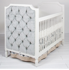beverly crib with tufted panels