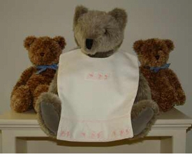 bib - embroidered alphabet pique by sweet william