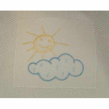 bib - embroidered one fine day pique by sweet william