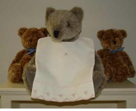 bib - embroidered payton's posey pique by sweet william