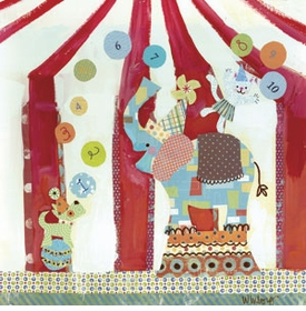 big top counting circus wall art