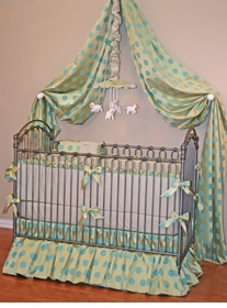 bijou crib bedding little bunny blue