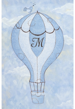 birdie balloon ride I spring sky personalized wall hanging