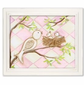 birdie pink diamond wall art
