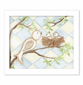 birdy blue diamond canvas reproduction wall art