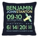 birth announcement new baby airplane pillow (dark)