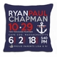 birth announcement new baby anchor pillow (dark)