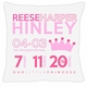 birth announcement new baby princess pillow
