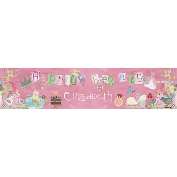 birthday banner - happily ever after