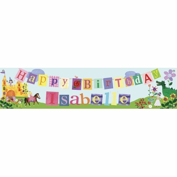 birthday banner - princess