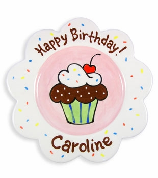 birthday cake plate – girl