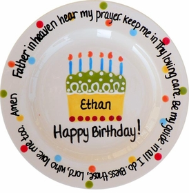 birthday prayer plate