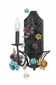 black/blue/gold<br>1 arm gazebo wall sconce