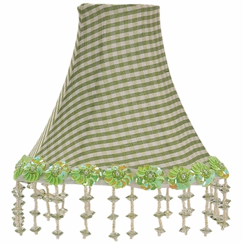 black check pearl flower chandelier shade