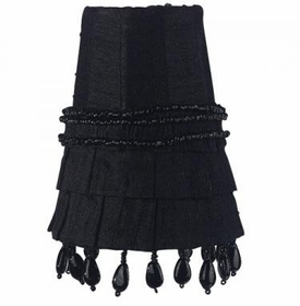 black skirt dangle sconce shade