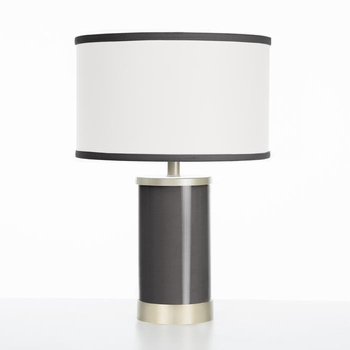 black table lamp gold finish