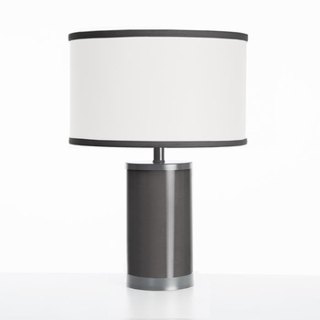 black table lamp gunmetal finish