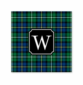 black watch plaid square paper coaster<br>set of 50