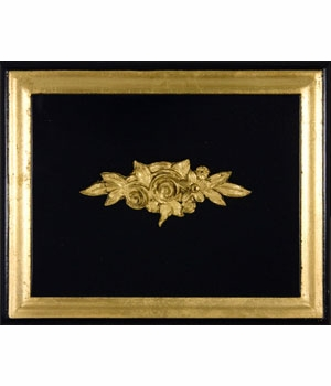 black with gold gilding wood finish