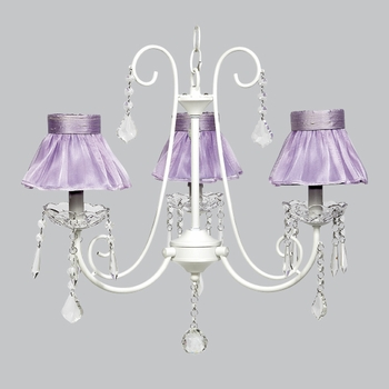bliss chandelier - lavender sheer shades