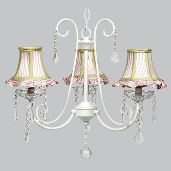 bliss chandelier - pink green shades