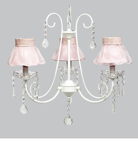 bliss chandelier - pink sheer shades
