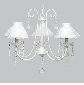 bliss chandelier - white sheer shades