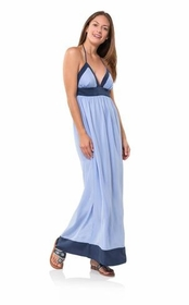 blocked with color maxi dress