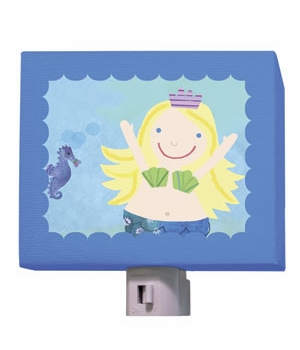 blonde mermaid nightlight