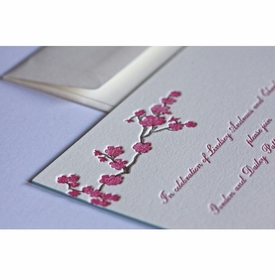 blossom engagement party card