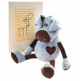 blue and chocolate pig by moncalin