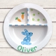blue bunny sectioned baby plate