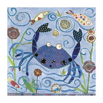 blue crab wall art