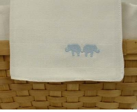 blue elephant nappie burp cloths by sweet william