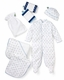 blue stars deluxe layette gift basket