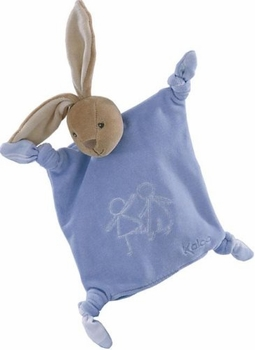blue velour doudou