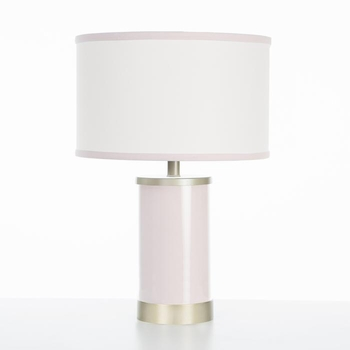 blush table lamp - gold finish