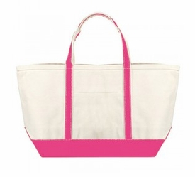 boat tote - hot pink