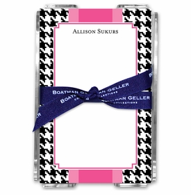 boatman geller alex houndstooth black acrylic note sheets