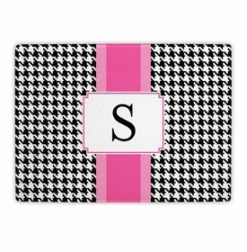 boatman geller alex houndstooth black cutting board