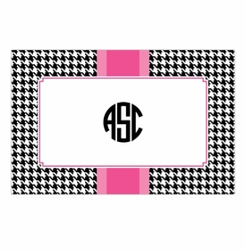 boatman geller alex houndstooth black disposable placemats